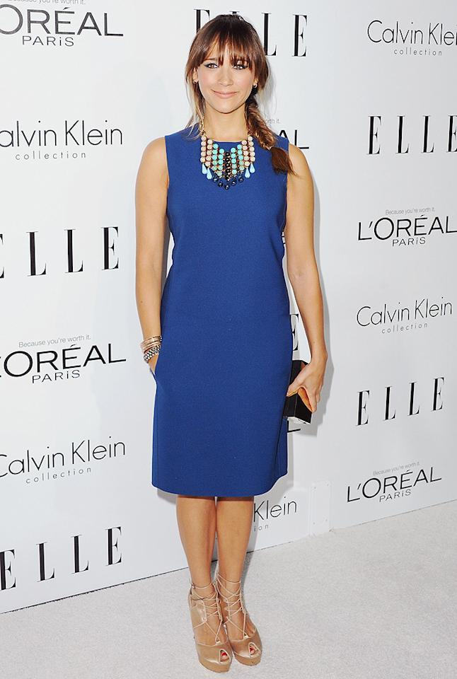 BEVERLY HILLS, CA - OCTOBER 15:  Actress Rashida Jones arrives at the 19th Annual ELLE Women In Hollywood Celebration at the Four Seasons Hotel Los Angeles at Beverly Hills on October 15, 2012 in Beverly Hills, California.  (Photo by Jon Kopaloff/FilmMagic)