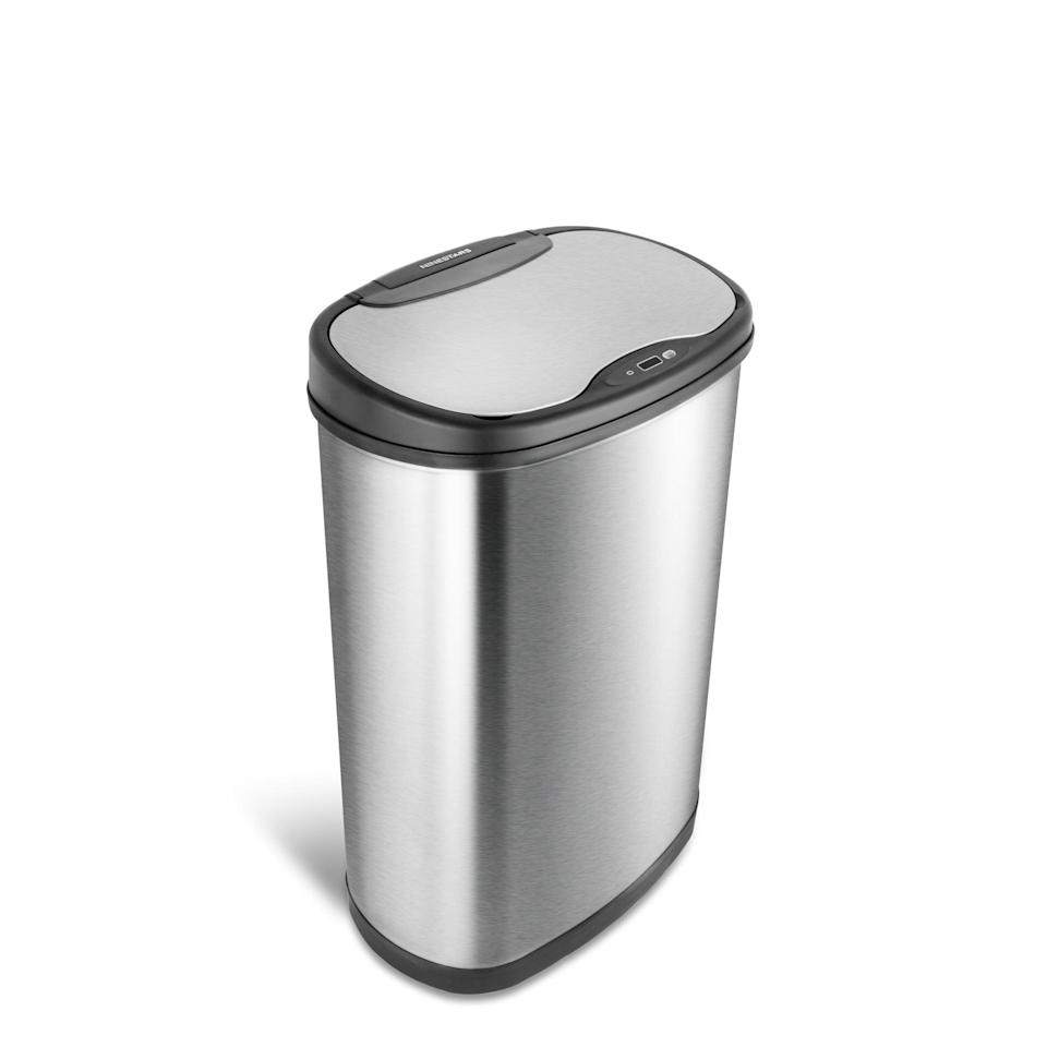 "<p>This <a href=""https://www.popsugar.com/buy/Nine-Stars-Stainless-Steel-Gallon-Motion-Sensor-Trash-Can-578146?p_name=Nine%20Stars%20Stainless%20Steel%20Gallon%20Motion%20Sensor%20Trash%20Can&retailer=wayfair.com&pid=578146&price=60&evar1=casa%3Aus&evar9=47527268&evar98=https%3A%2F%2Fwww.popsugar.com%2Fhome%2Fphoto-gallery%2F47527268%2Fimage%2F47527301%2FNine-Stars-Stainless-Steel-Gallon-Motion-Sensor-Trash-Can&list1=shopping%2Cgadgets%2Chome%20shopping%2Cwayfair&prop13=mobile&pdata=1"" class=""link rapid-noclick-resp"" rel=""nofollow noopener"" target=""_blank"" data-ylk=""slk:Nine Stars Stainless Steel Gallon Motion Sensor Trash Can"">Nine Stars Stainless Steel Gallon Motion Sensor Trash Can</a> ($60, originally $73) is a smart hands-feee device.</p>"