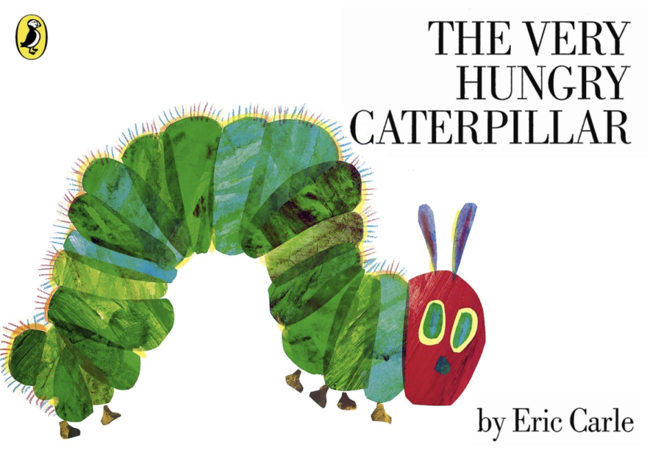 The Very Hungry Caterpillar book cover.