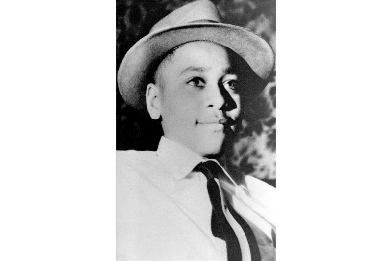 FILE - This undated file photo shows Emmett Till, a 14-year-old black Chicago boy, whose body was found in the Tallahatchie River near the Delta community of Money, Miss., Aug. 31, 1955. People carrying a white nationalist flag were caught on security cameras, Saturday, Nov. 2, 2019, trying to film in front of a new memorial to lynching victim Emmett Till. (AP Photo/File)