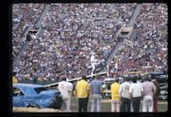 <p>ABC's <em>Wide World of Sports</em> was some of the most sensational TV of its time. In this episode, aired on February 5, 1976, Evel Knievel pulled off one of his famous jumps. <br></p>