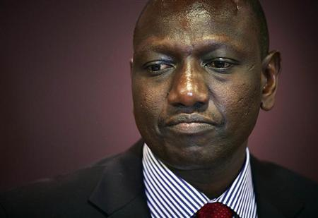 Deputy Kenyan President Ruto attends a news conference in the Hague