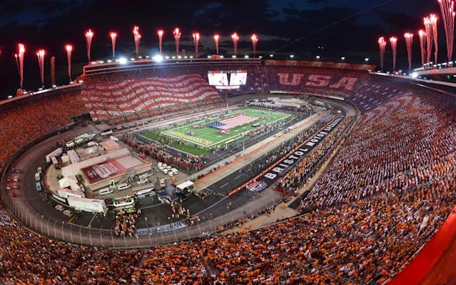 "<span class=""element-image__caption"">Last year the University of Tennessee played a college football game against Virginia Tech at Bristol Motor Speedway that attracted a record 157,000 spectators.</span> <span class=""element-image__credit"">Photograph: Michael Shroyer/Getty Images</span>"