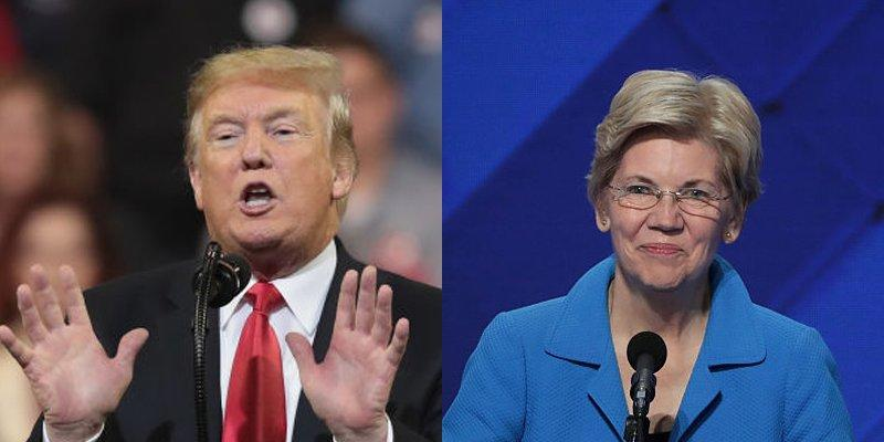 Donald Trump Elizabeth Warren