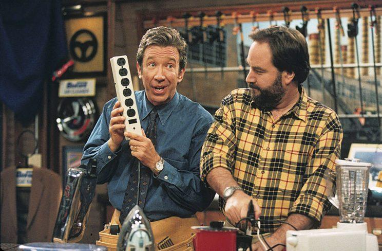 Tim Allen as Tim Taylor and Richard Karn as Al Borland in Home Improvement. (Photo by ABC Photo Archives/Getty Images)