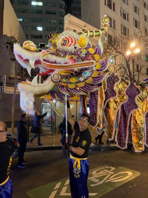 Paul Miyamoto, the new San Francisco County sheriff and the first Asian American sheriff in California history, takes part in a recent new year's celebration in San Francisco's Chinatown. Miyamoto is Japanese on his father's side and Chinese on his mother's side.