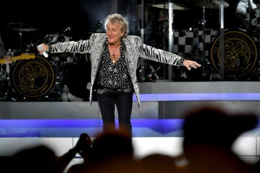 British pop star Rod Stewart, pictured perfoming at New York's Madison Square Garden in 2018, is to appear in a Florida court on February 5, 2020, charged with simple battery