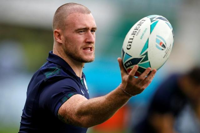 Scotland full-back Stuart Hogg has been named as captain for the Six Nations campaign (AFP Photo/Adrian DENNIS)