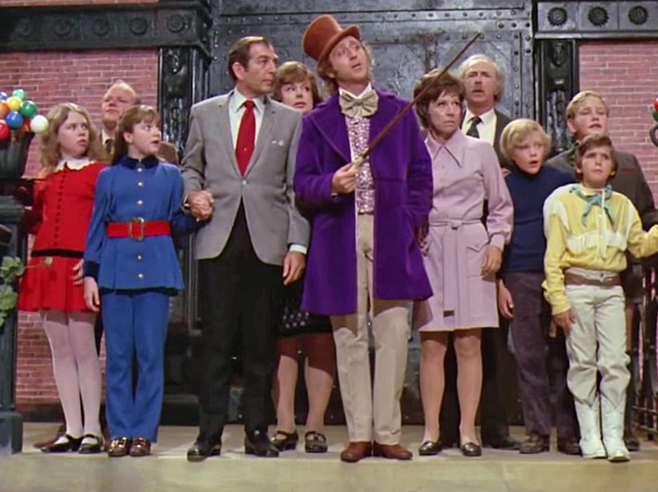 "Gene Wilder stars in ""Willy Wonka and the Chocolate Factory."""