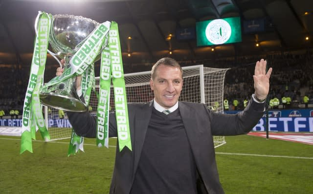 Rodgers is unbeaten in domestic cup competitions since 2015. (Jeff Holmes/PA)
