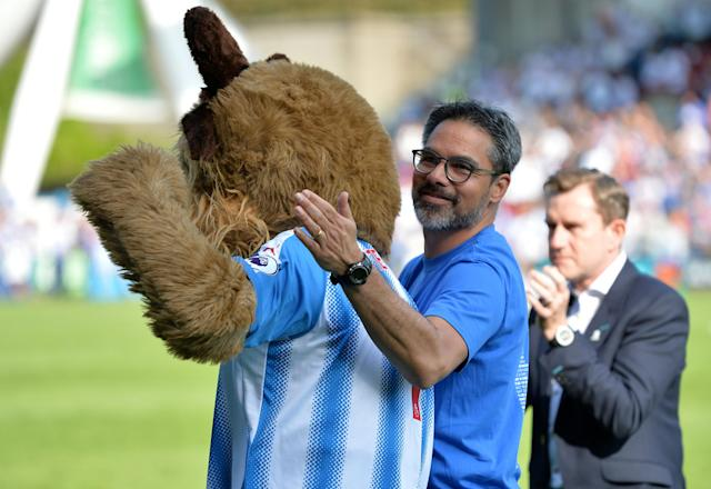 "Soccer Football - Premier League - Huddersfield Town vs Arsenal - John Smith's Stadium, Huddersfield, Britain - May 13, 2018 Huddersfield Town manager David Wagner with chairman and owner Dean Hoyle at the end of the match REUTERS/Peter Powell EDITORIAL USE ONLY. No use with unauthorized audio, video, data, fixture lists, club/league logos or ""live"" services. Online in-match use limited to 75 images, no video emulation. No use in betting, games or single club/league/player publications. Please contact your account representative for further details."