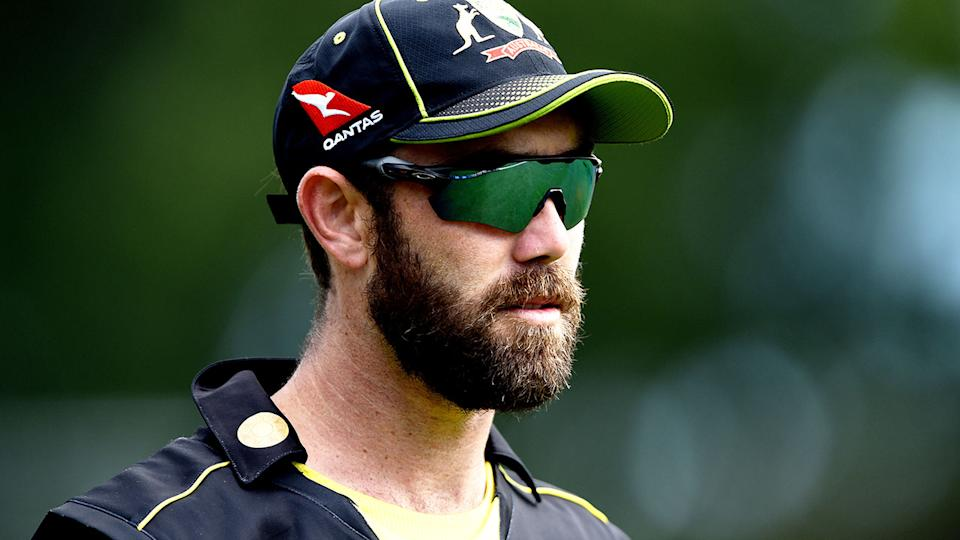 Pictured here, Aussie batsman Glenn Maxwell during a training session.