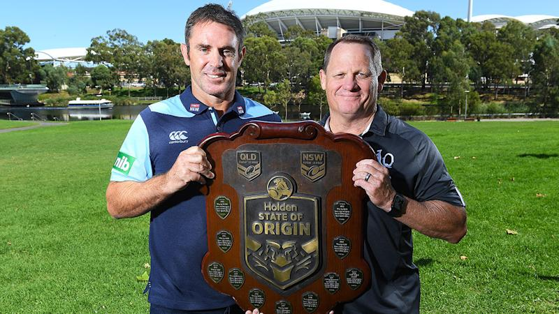 Pictured here, NSW State of Origin coach Brad Fittler and Queensland counterpart Kevin Walters.