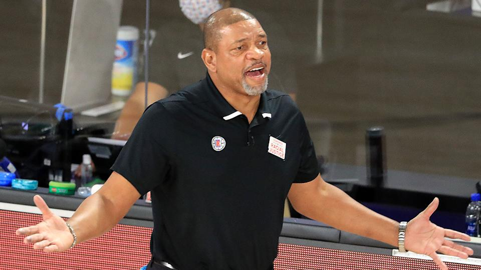 Pictured here, Doc Rivers will take the reins at Philadelphia after being appointed coach.