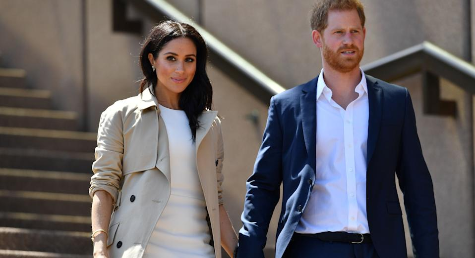 Meghan Markle and Prince Harry (pictured during their royal tour to Australia in 2018) have joined rest of royal family in sending support to victims of the bushfires [Image: Getty]