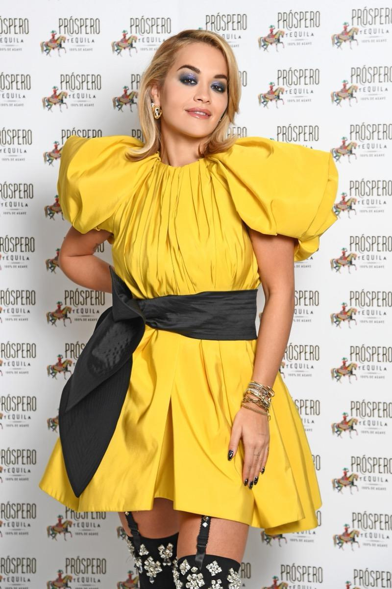 LONDON, ENGLAND - NOVEMBER 23: (THIS IMAGE IS STRICTLY EMBARGOED FOR USE UNTIL 00.01 NOVEMBER 25, 2020) In this image released on November 24th, Rita Ora poses during the Prospero Tequila UK Launch on November 23, 2020 in London, England. (Photo by Gareth Cattermole/Getty Images)