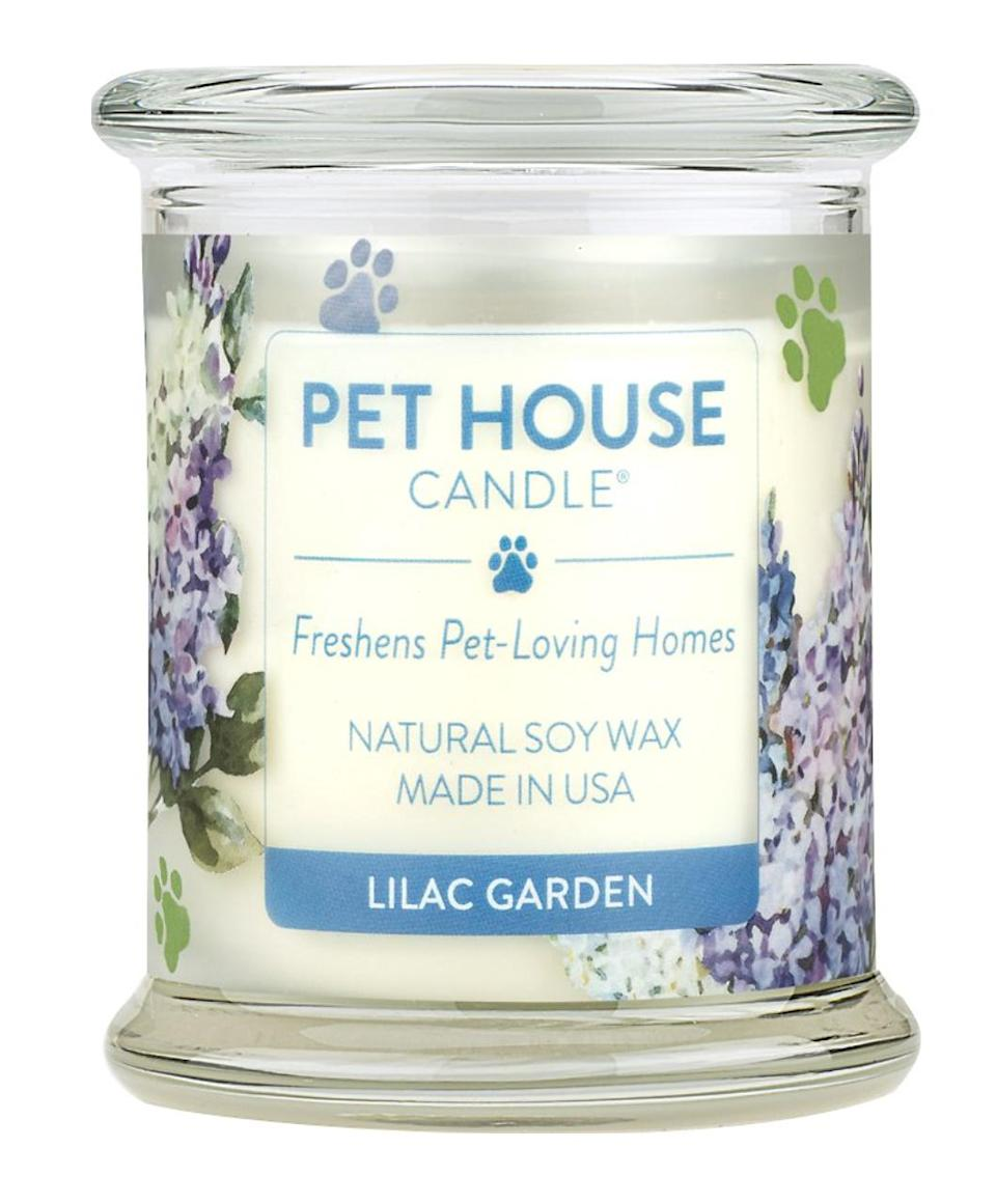 "<p>Pet ownership comes with only a few drawbacks, this odor-busting candle gets rid of one of them. </p> <p><strong>Buy it!</strong> Pet House Lilac Garden Natural Soy Candle, $21.95; <a href=""https://www.anrdoezrs.net/links/8029122/type/dlg/sid/PEO10CuteMothersDayGiftsforDevotedPetParentskbender1271PetGal12700031202105I/https://www.chewy.com/pet-house-lilac-garden-natural-soy/dp/143239"" rel=""sponsored noopener"" target=""_blank"" data-ylk=""slk:Chewy.com"" class=""link rapid-noclick-resp"">Chewy.com</a></p>"