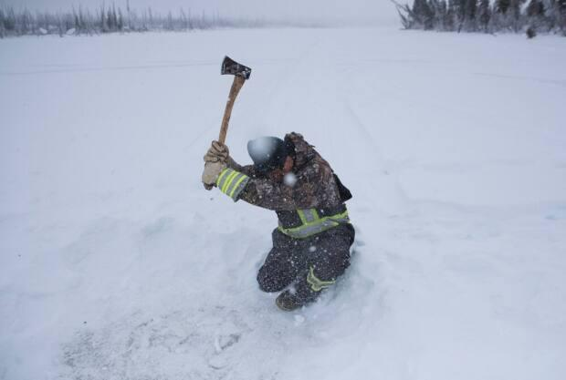 Because he lives in Yellowknife and has done cold weather shoots so often, Pat Kane said he knew how to handle the work at -40 C.