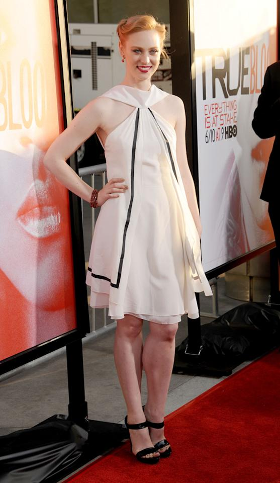 "Deborah Ann Woll attends HBO's ""True Blood"" Season 5 Los Angeles premiere at ArcLight Cinemas Cinerama Dome on May 30, 2012 in Hollywood, California."