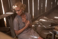 "This image released by Paramount Pictures shows Margot Robbie in a scene from ""Dreamland."" (Ursula Coyote/Paramount Pictures via AP)"
