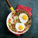 """<p>Top a pile of fresh fall vegetables with a fried egg to make this marvelous <a href=""""https://www.myrecipes.com/t/main-dish-and-entrees/vegetarian"""" rel=""""nofollow noopener"""" target=""""_blank"""" data-ylk=""""slk:meatless dish"""" class=""""link rapid-noclick-resp"""">meatless dish</a>. </p>"""