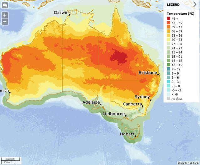 Much of the east coast is set to be hit with extreme heat. Source: BOM