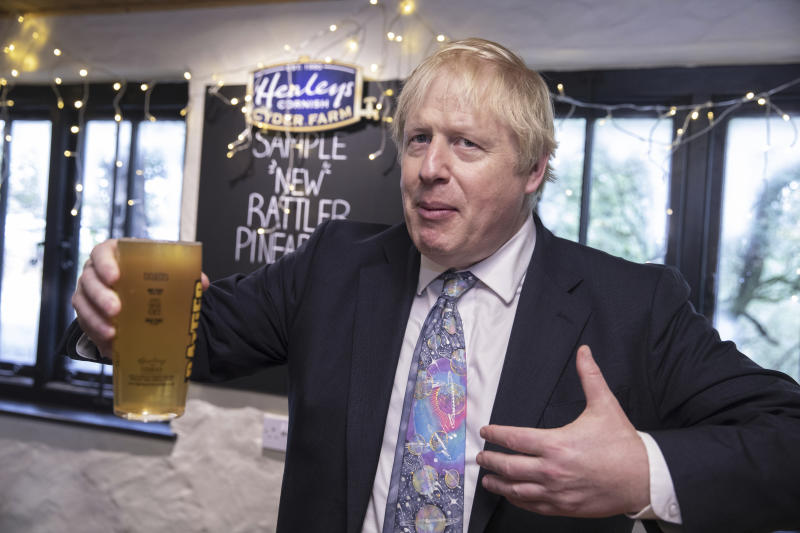 The poll is gives Boris Johnson a boost. (AP)