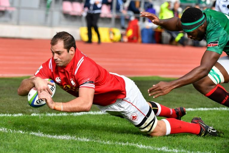 Canada lock Brett Beukeboom, who scored in Sunday's rout of Kenya, will spearhead a bruising pack against Germany