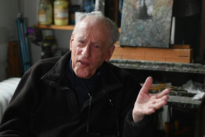 """Holocaust survivor Frederick Terna says he is """"very, very worried"""" about the return of anti-Semitism and """"narrow nationalism"""" which remind him of growing up in Prague in the 1930s (AFP Photo/Angela Weiss)"""