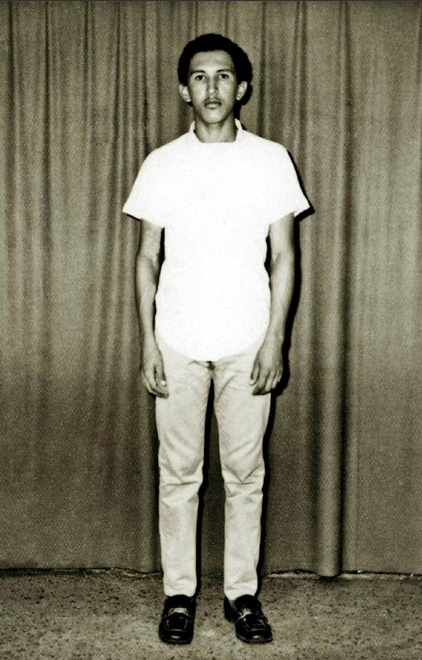 bIn this March 1971 photo released by Miraflores Press Office, Hugo Chavez poses for a photo prior to his admission to the military academy in Caracas, Venezuela. Venezuela's Vice President Nicolas Maduro announced on Tuesday, March 5, 2013 that Chavez has died. Chavez, 58, was first diagnosed with cancer in June 2011. (AP Photo/Miraflores Press Office)