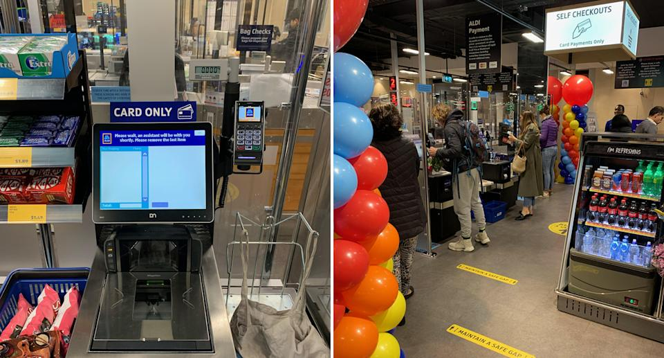 Aldi customers have had mixed reactions to their new self-service checkouts. Source: Supplied