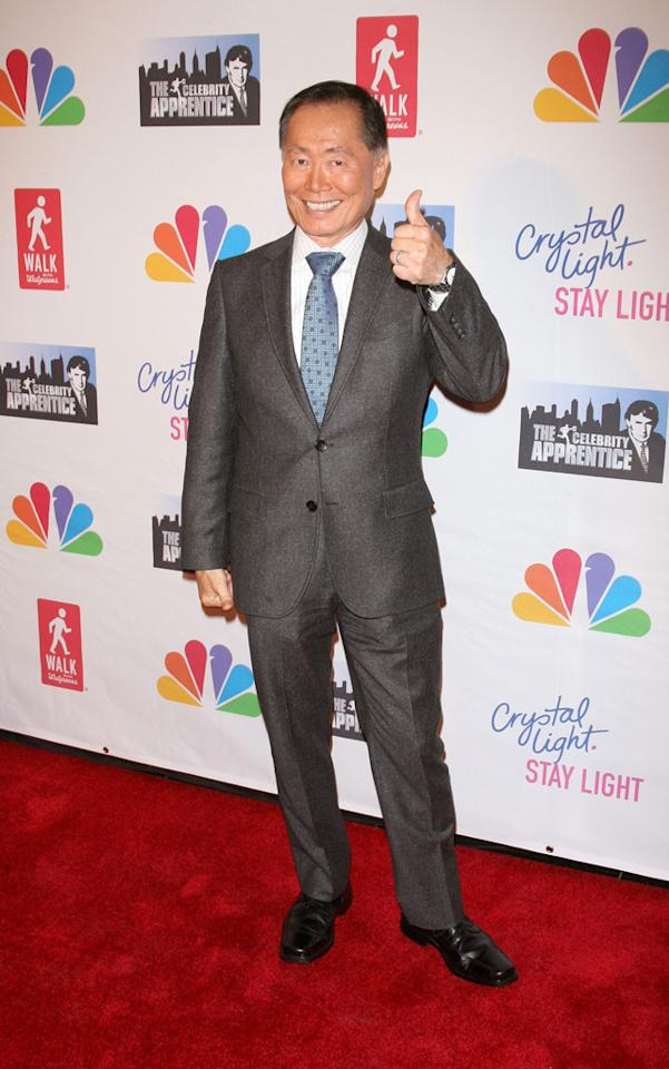 """George Takei attends the """"Celebrity Apprentice"""" Live Finale at American Museum of Natural History on May 20, 2012 in New York City."""