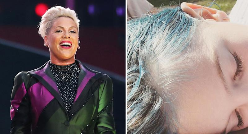 Pink has dyed her daughter Willow's hair blue. [Photo: Getty]