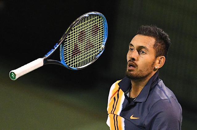 The supremely talented but combustible Kyrgios has become infamous for his outbursts and meltdowns on court (AFP Photo/Johannes EISELE)