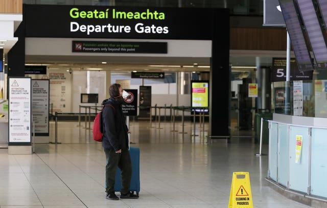 An empty airport departure gate