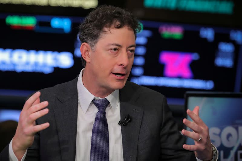 Jeffrey Smith, CEO of Starboard Value LP and Chairman of Papa John's International Inc., speaks during an interview on CNBC on the floor of the NYSE in New York