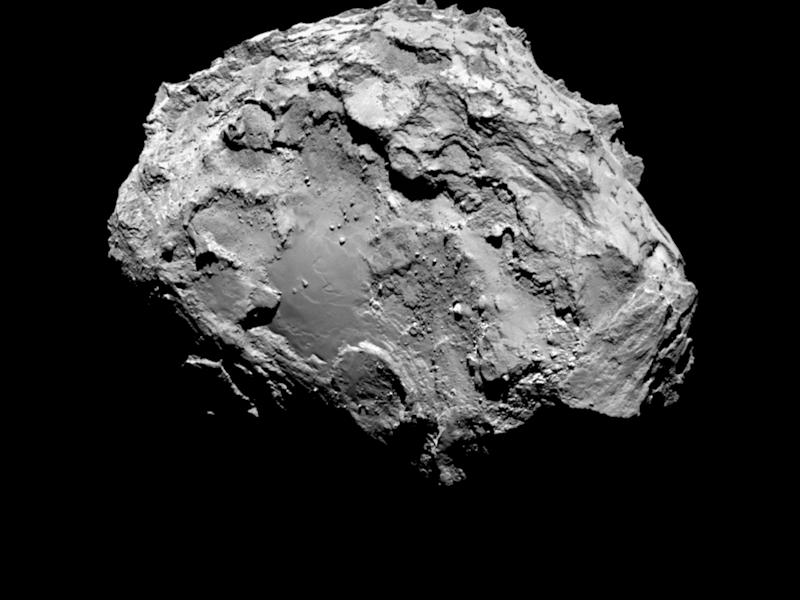 Picture taken by the European Space Agency's Rosetta space probe shows the Comet 67P/Churyumov-Gerasimenko from a distance of 285 kilometres