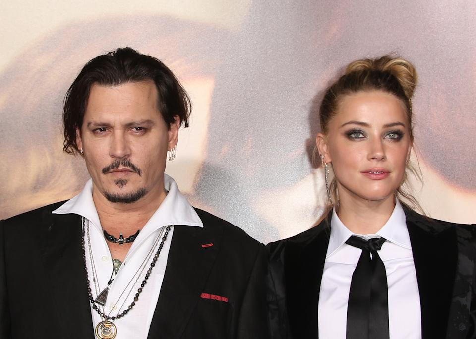 """Westwood, CA - November 21 Johnny Depp, Amber Heard Attending Premiere Of Focus Features' """"The Danish Girl"""" At The Westwood Village Theatre On November 21, 2015. Photo Credit: Faye Sadou / MediaPunch/IPX"""