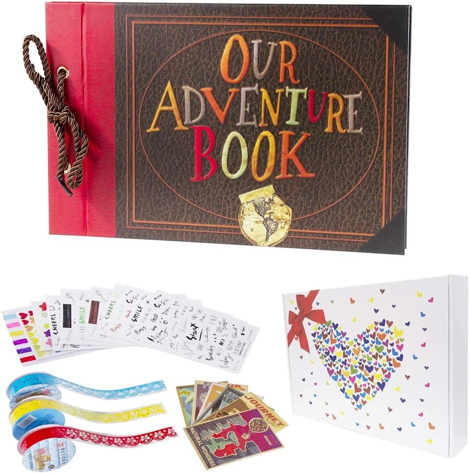<p>The <span>Pulaisen Our Adventure Book Scrapbook</span> ($15) will let you create the most personalized scrapbook or photo album for any one in your life.</p>