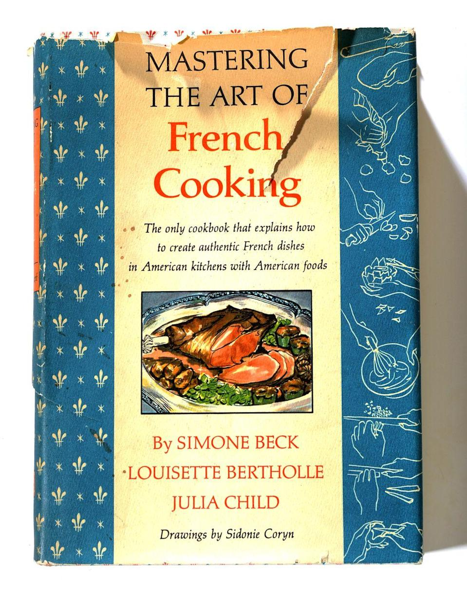 """<p>Julia Child is one of America's favorite chefs, and her first cookbook swept the nation when it was published in 1961. If you've hung onto an original copy, you may be in the market for more than just a satisfied appetite—a first edition in good condition with the original jacket is rare and <a href=""""https://www.abebooks.com/servlet/BookDetailsPL?bi=22832468638&cm_mmc=ggl-_-COM_Shopp_Rare-_-naa-_-naa&gclid=CjwKCAiAlajvBRB_EiwA4vAqiBNzX4ozcC2MVlT-NdFVw9_y8LJtWROjgOhXMq6bp2pOC79RbduiDBoCYqUQAvD_BwE"""" rel=""""nofollow noopener"""" target=""""_blank"""" data-ylk=""""slk:earns top dollar"""" class=""""link rapid-noclick-resp"""">earns top dollar</a> on Ebay. </p><p><strong>What it's worth: </strong>$2,000 and up</p>"""