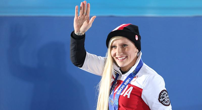 Kaillie Humphries has been released from Bobsleigh Canada Skeleton. (LOIC VENANCE/AFP/Getty Images)