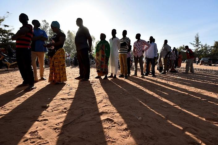More than 18 million voters in Burkina Faso cast their ballots for a new leader for the first time since 1987 (AFP Photo/Issouf Sanogo)