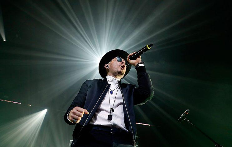 Chester Bennington of Linkin Park performs during CBS Radio's two-night