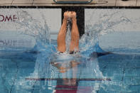 Emma Weyant, of United States, swims in the final of the women's 400-meter Individual medley at the 2020 Summer Olympics, Sunday, July 25, 2021, in Tokyo, Japan. (AP Photo/Charlie Riedel)