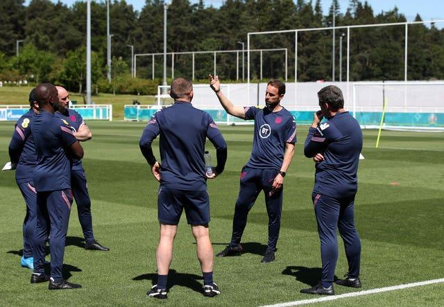 Gareth Southgate and his staff have been overseeing training ahead of the opening game against Croatia.