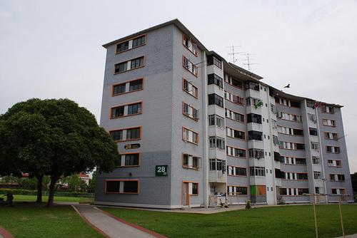 Old-styled HDB flats