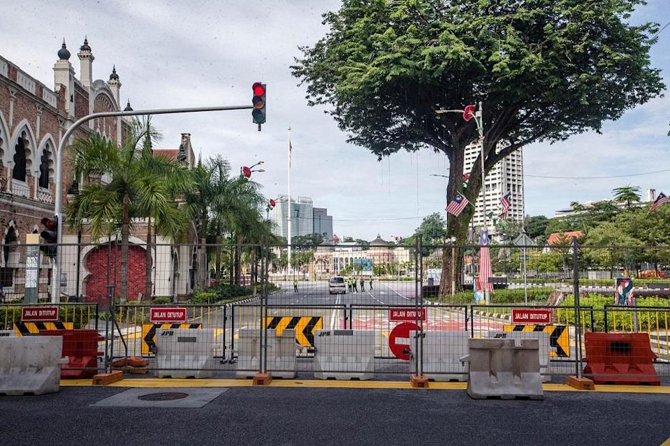 Dataran Merdeka has been cordoned off by the police.