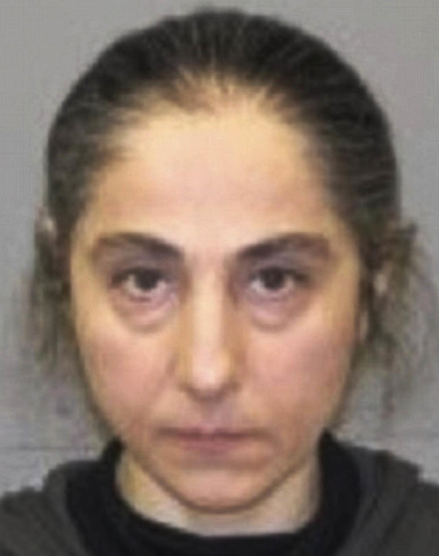 This June 2012 booking photo released by the Natick, Mass., police shows Zubeidat K. Tsarnaeva, mother of Tamerlan and Dzhokhar Tsarnaev, the two men who set off bombs near the Boston Marathon finish line Monday, April 15, 2013 in Boston. Zubeidat Tsarnaeva was arrested in June 2012 on a shoplifting charge at a Lord & Taylor store in Natick. (AP Photo/Natick Police Department)
