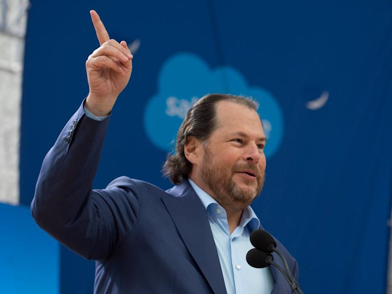 Salesforce boss Marc Benioff, wife buy Time magazine