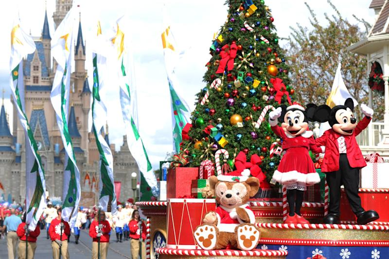 it is october 16th and disney world just put up some christmas decorations